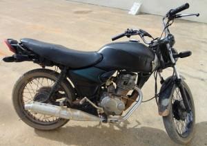 Motocicleta foi recuperada pelos Militares do 2º BPM