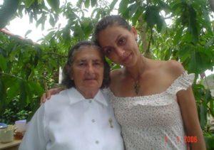 Dona Fiota e sua neta Patrícia