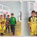 Equipe União de Vila Pavão sub 11 conquistou a 3ª colocação e a equipe União de Vila Pavão sub 13, a 1ª colocação