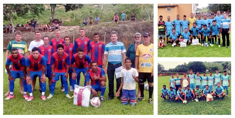 As equipes do Guarani (Caraca), Todos os Santos e São Gonçalo (foto), foram beneficiadas com materiais esportivos